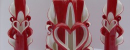 Romantic Heart Candle Set (Red)
