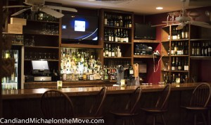 The bar area at Mike Dianna's Grill Room
