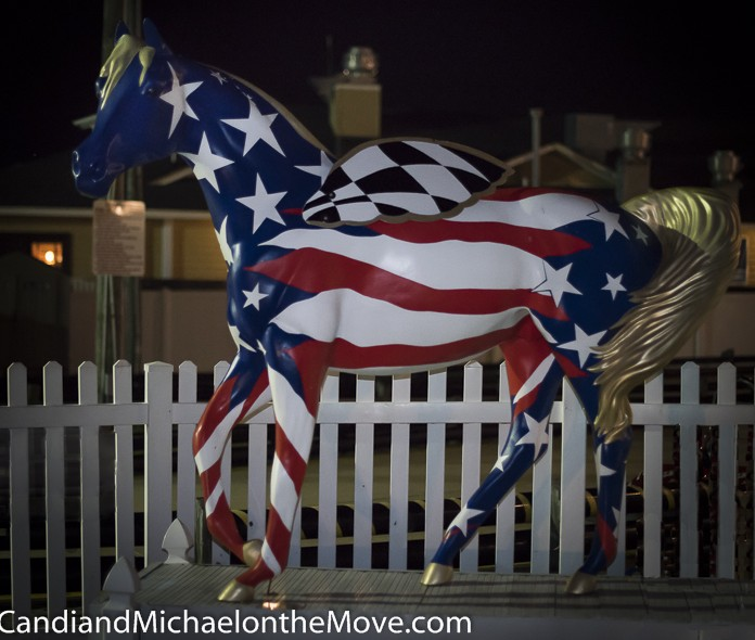 The Outer Banks has an amazing display of Mustang horses throughout the towns.  This one is in front of Mike Dianna's