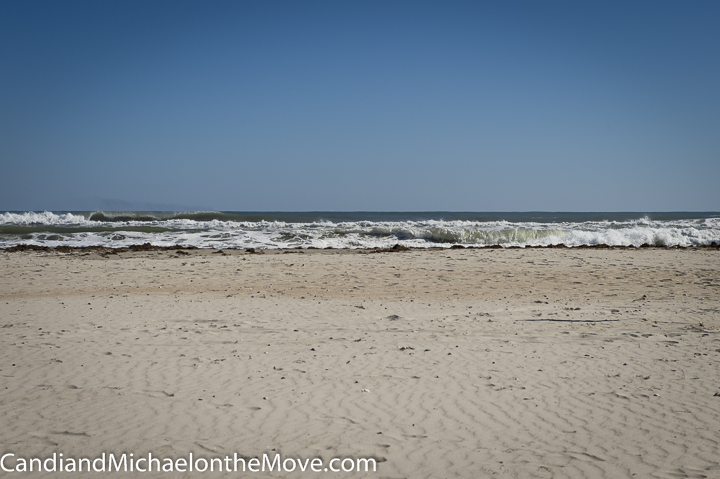 Day 2 - Another perfect day.  Waves were calmer because wind was coming out of the west.
