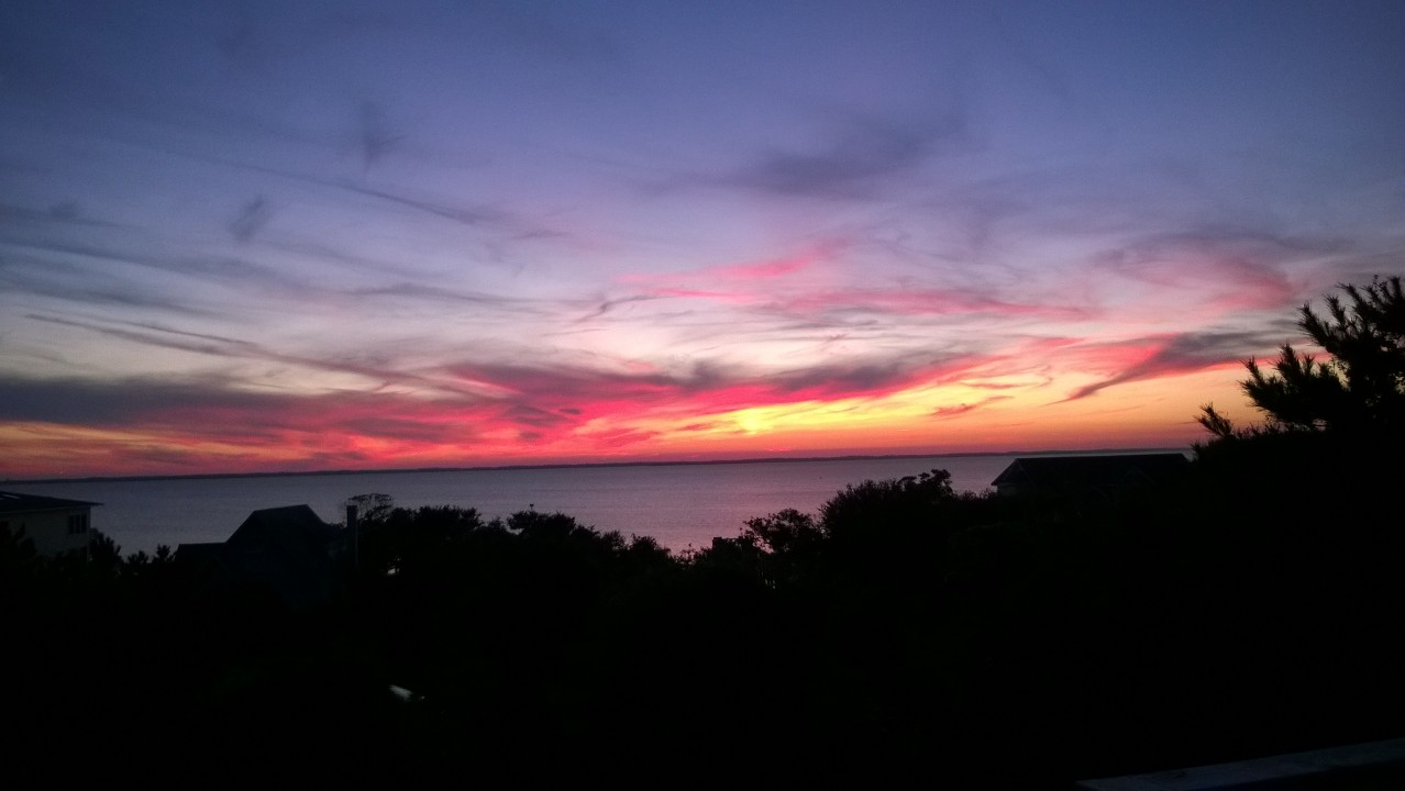 This was the sunset we wanted Anne to see ....