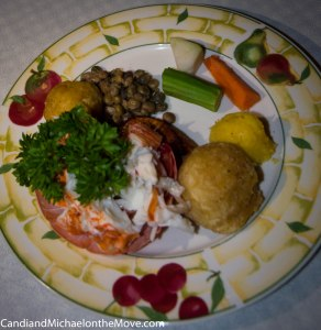 This is the Lobster entrée with Garlic Lime sauce ~ Fantastic!
