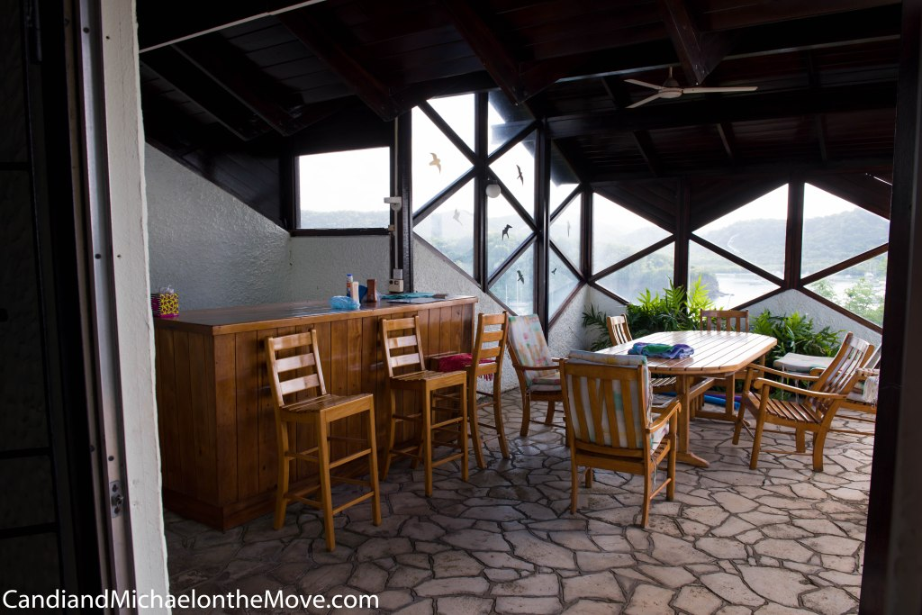 """Here is what the patio area used to look like. Notice how the room is """"bumped in""""."""