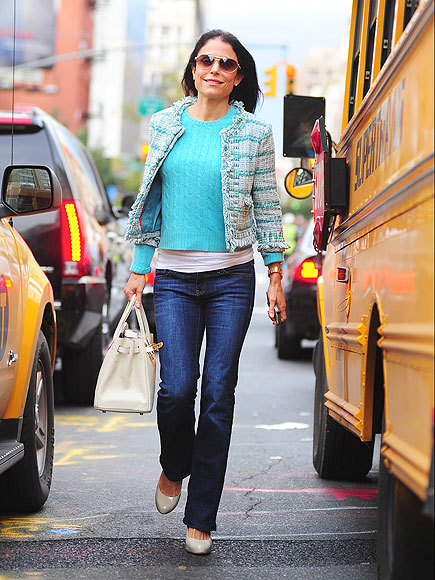 bethenny frankel 435 Celeb Fashion Find: Reality Star Bethenny Frankels Tory Burch Tweed Jacket
