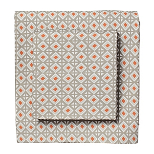 Carrot Diamondback Sheet Set. Serena & Lily