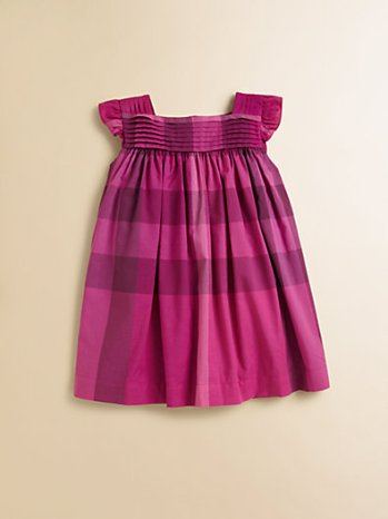 Infant's Pleat-Front Check Dress in Fuchsia. Saks Fifth Avenue Easter