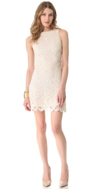 alice + olivia Ingrid Lace Dress in Cream. Shopbop