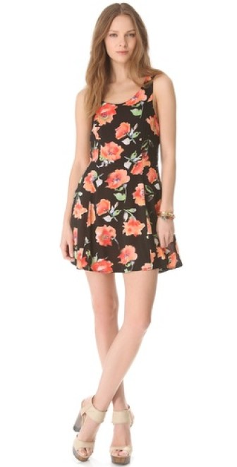 MINKPINK Bittersweet Cross Back Floral Print Dress in Multi. Shopbop