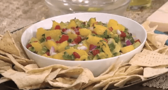 The Chews Clinton Kellys top mango salsa recipe  565x303 The Chews Clinton Kellys Delicious Mango Salsa Recipe