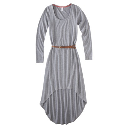 Xhilaration Juniors Belted High Low maxi Dress (Long Sleeve) in Heather Gray, Deep Olive or Black . Target