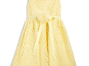 Us Angels Little Girl's Daisy Illusion Dress in yellow