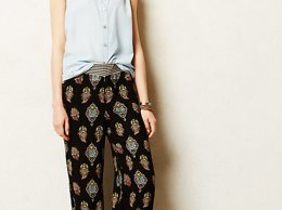 Lilka Boracay Wide-Legs Pants in Black Motif