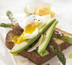 You can't go wrong with a Spring Asparagus Ham and Egg Sandwich on Roman Meal Whole Grain Bread!