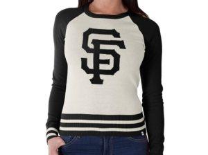 '47 Brand San Francisco Giants Women's Cream/Black Passblock Sweater