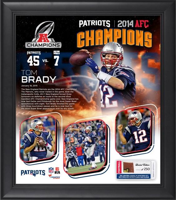 Tom Brady New England Patriots 2014 AFC Champions Framed 153 X 17