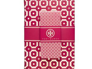 TORY TILE NOTEBOOK & JOTTER SET in Carnation Red Tory Burch