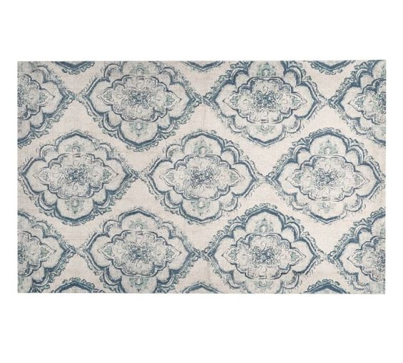 Diamond Basic Porcelain Blue Persian Style Wool Area Rug: Home: Pottery Barn Living Room Sale Save Up To 30% On