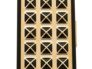 Rebecca Minkoff Studded iPhone Mobile Charger in Black and Gold