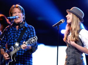 "Watch The Voice season 8 winner Sawyer Fredericks and CCR frontman John Fogerty perform Creedence Clearwater Revival hit songs ""Born on the Bayou"", ""Bad Moon Rising"", and ""Have You Ever Seen The Rain"" on Tuesday, May 19, 2015."