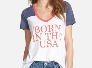 Chaser 'Born In The USA' Graphic Tee in White/Blue/Red
