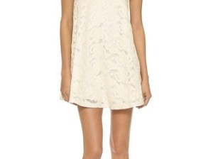 J.O.A. Lace Tented Dress in Natural