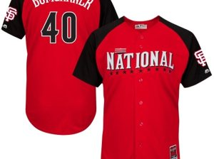 Men's Majestic Madison Bumgarner Red San Francisco Giants 2015 All-Star Game Player Jersey