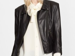 Theory 'Jotor' Leather Moto Jacket in Black Nordstrom Anniversary Sale