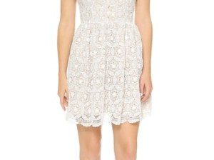 Rae Francis Lace Vice Dress in Cream Crochet