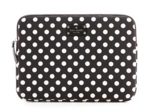 Kate Spade New York Le Pavillion Laptop Sleeve in Black/White