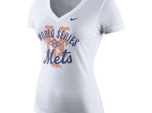 Nike New York Mets Women's White 2015 World Series Bound Tri-Blend T-Shirt