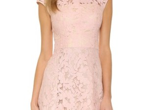 Lover Warrior Lace Mini Dress in Dusty Pink, Rose