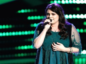 """See inspiring singer Brittney Lawrence of Team Blake perform """"Warrior"""" by Demi Lovato during her blind audition on """"The Voice"""" (season 10 episode four.)"""