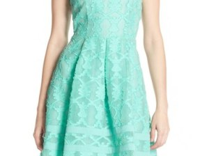 Adelyn Rae Cutout Lace Fit & Flare Dress (Nordstrom Exclusive) Mint Green