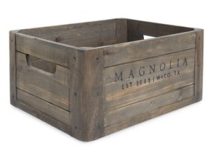 Magnolia Home Nordstrom Wooden Crate