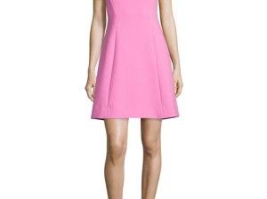 kate spade new york sleeveless a-line dress carousel pink a-line dresses for the kentucky derby