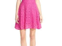 BB Dakota 'Renley' Lace Fit & Flare Dress (Nordstrom Exclusive) Hula Pink Nordstrom nordstrom half yearly sale for women
