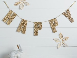 Emily & Meritt Gold Sequin Letters & Garlands Pottery Barn Kids pottery barn kids extra 15% off clearance sale
