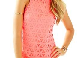 Lilly Pulitzer MANGO LASER CUT SHIFT DRESS Pink Sun Ray Daisy Laser Cut shift dresses for the kentucky derby