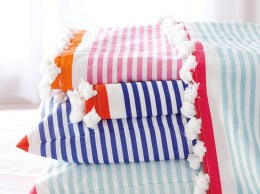 Serena & Lily Candy Stripe Coverlet serena and lily memorial day sale