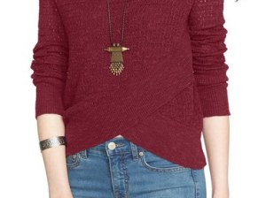 Free People Crossover Sweater Wine 2016 Nordstrom anniversary sale women's sweaters cardigans