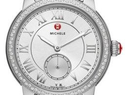 MICHELE 'Harbor Diamond' Watch with Bracelet, 35mm x 16mm Silver Nordstrom anniversary sale women's jewelry