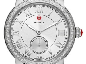 MICHELE 'Harbor Diamond' Watch with Bracelet, 35mm x 16mm Silver Nordstrom anniversary sale women's jewelry