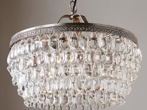 Pottery Barn CLARISSA CRYSTAL DROP ROUND CHANDELIER pottery barn 20% off sale