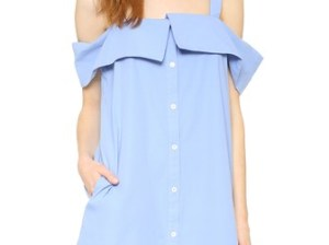 Clu Off The Shoulder Shirtdress Blue shopbop candie anderson