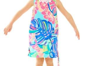Lilly Pulitzer GIRLS LITTLE LILLY CLASSIC SHIFT DRESS Multi Exotic Garden toddler girls dresses for preschool back to school