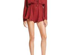 The Jetset Diaries Colonial Lace-Up Romper bloomingdales lace-up rompers candace rose