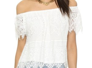 cupcakes and cashmere Sunset Lace Off Shoulder Top Ivory Shopbop end of season sale summer 2016 fashion