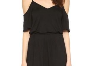 Ella Moss Bella Cold Shoulder Dress Black