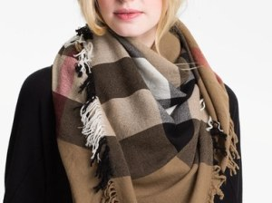 Burberry Check Merino Wool Scarf House Check blanket scarves fall