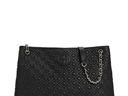Tory Burch MARION QUILTED CENTER-ZIP TOTE Tory Burch Private Sale